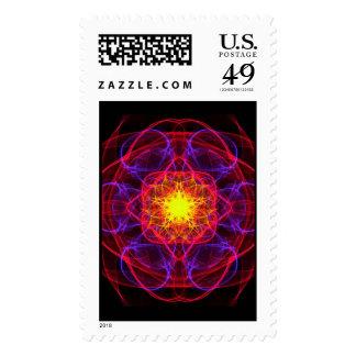 Silkwoven Neon Sigil 2 Postage Stamp