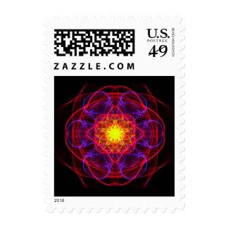 Silkwoven Neon Sigil 2 Postage Stamps