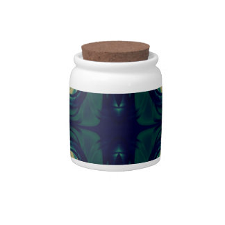 Silky Abstract - Dark Blue, Beige, and Green Candy Jars