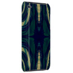 Silky Abstract - Dark Blue, Beige, and Green Case-Mate iPod Touch Case
