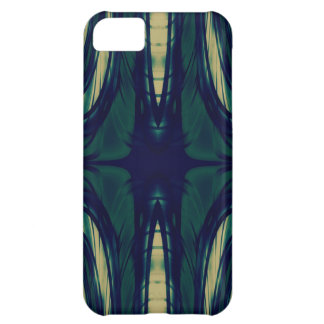 Silky Abstract - Dark Blue, Beige, and Green Cover For iPhone 5C