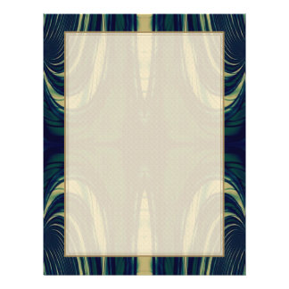 Silky Abstract - Dark Blue, Beige, and Green Flyer