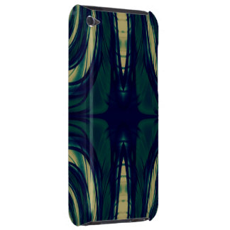 Silky Abstract - Dark Blue, Beige, and Green iPod Touch Case