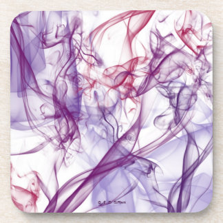 Silky Abstract Drink Coaster
