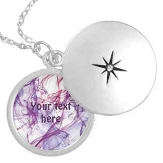 Silky Abstract Round Locket Necklace