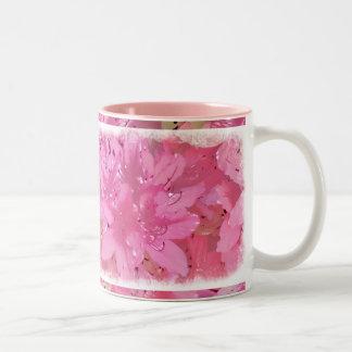 Silky Azaleas Two-Tone Coffee Mug