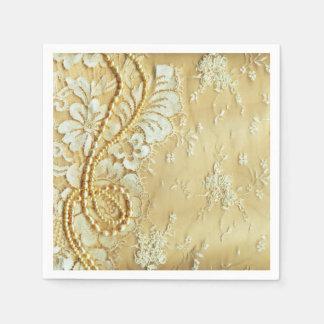 Silky Cream Decorative Items On A Wedding Backdrop Paper Napkin