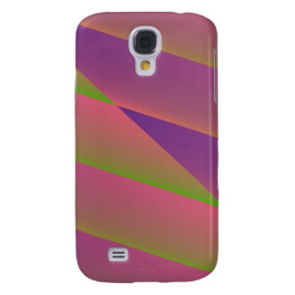 Silky - Girly Abstract in Pink, Purple, and Green Samsung Galaxy S4 Cover
