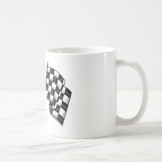 Silky looking Motorsport chequered flag gear Classic White Coffee Mug