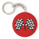 Silky looking Motorsport chequered flag gear Keychain