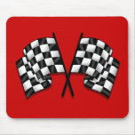 Silky looking Motorsport chequered flag gear Mouse Pad