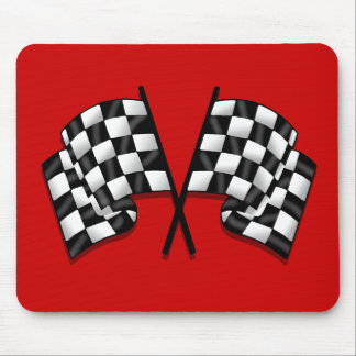 Silky looking Motorsport chequered flag gear Mouse Pads