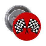 Silky looking Motorsport chequered flag gear Pins