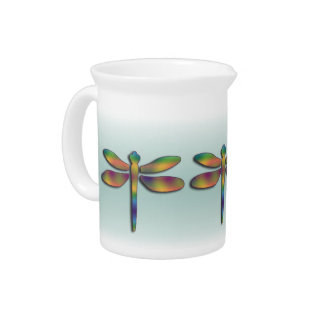 Silky Pastel Dragonfly Pitcher