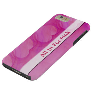 Silky Pink Heart Abstract Line Tough iPhone 6 Plus Case