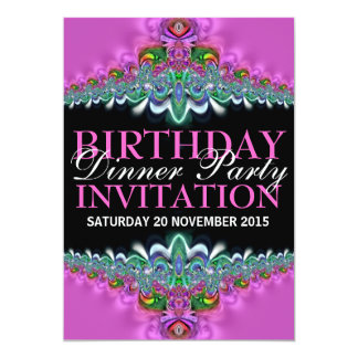 "Silky Pink Lace Birthday Dinner Party Invitations 5"" X 7"" Invitation Card"