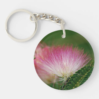 Silky Pink Mimosa Keychain