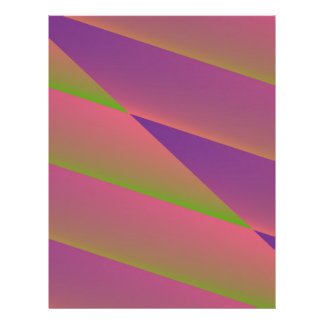 Silky - Pretty Abstract in Pink, Purple, and Green Flyer