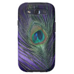 Silky Purple Peacock Feather Samsung Galaxy SIII Cover