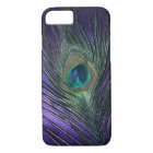 Silky Purple Peacock Feather iPhone 8/7 Case