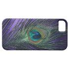 Silky Purple Peacock Feather iPhone SE/5/5s Case