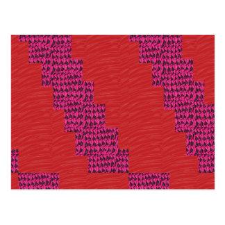 Silky RED blue streak UNIQUE SIGNATURE ART lowpric Postcard