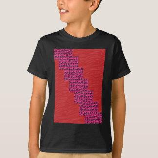 Silky RED blue streak UNIQUE SIGNATURE ART lowpric T-Shirt