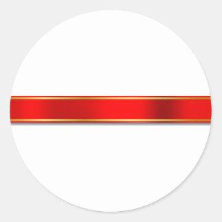 Silky Red Ribbon Design Classic Round Sticker