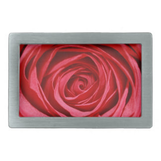 Silky Red Rose Petals Romantic Flowers Floral Belt Buckles