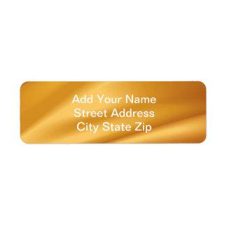 Silky Return Address Label