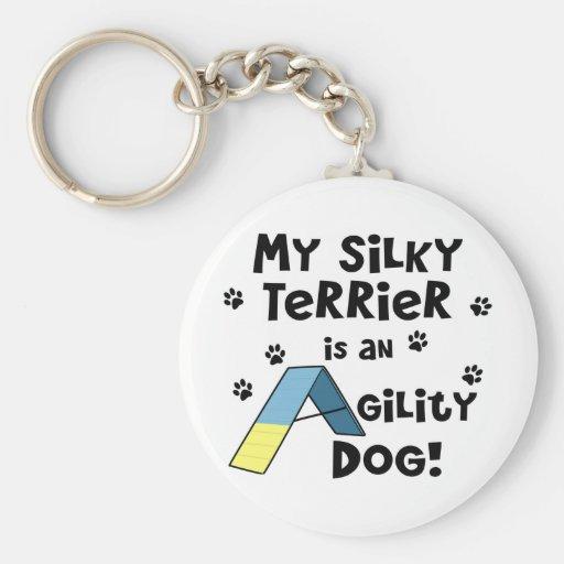 Silky Terrier Agility Dog Keychain