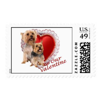 Silky Terrier Be Our Valentine Postage