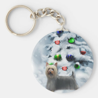 Silky Terrier Christmas Gifts Keychain