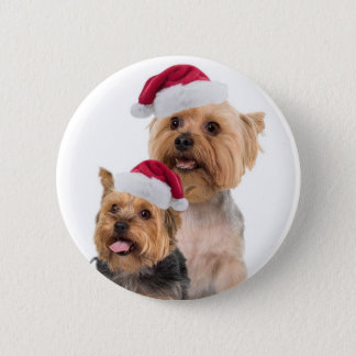 Silky Terrier Christmas Wishes Button
