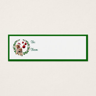Silky Terrier Christmas Wishes Gift Tags