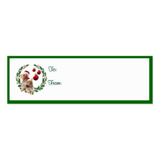 Silky Terrier Christmas Wishes Gift Tags Mini Business Card