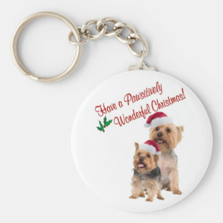 Silky Terrier Christmas Wishes Keychain