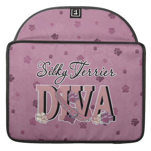 Silky Terrier DIVA Sleeves For MacBooks