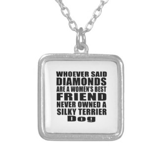 SILKY TERRIER DOG BEST FRIEND DESIGNS SILVER PLATED NECKLACE