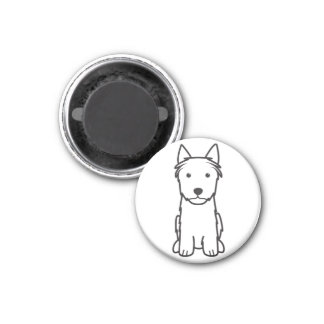 Silky Terrier Dog Cartoon Magnets