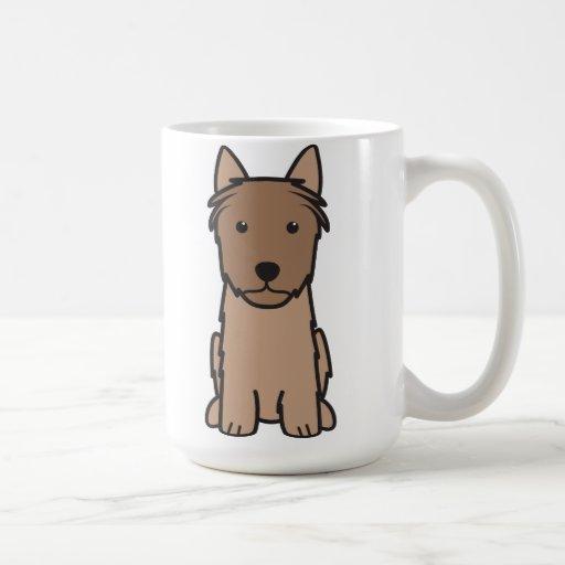 Silky Terrier Dog Cartoon Mug