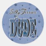 Silky Terrier DUDE Round Stickers