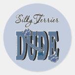 Silky Terrier DUDE Sticker