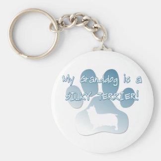 Silky Terrier Granddog Basic Round Button Keychain