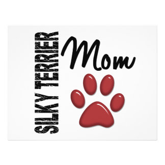 Silky Terrier Mom 2 Personalized Flyer