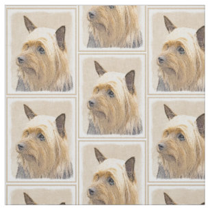 21c99868a6 Silky Terrier Painting - Cute Original Dog Art Fabric