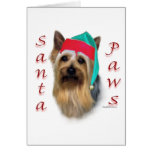 Silky Terrier Santa Paws Greeting Cards