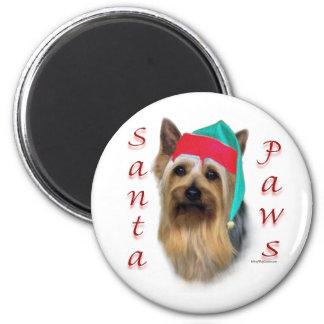 Silky Terrier Santa Paws - Magnet