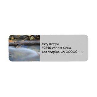 Silky Water 1 Address Label label