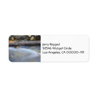 Silky Water 1 White Address Label label